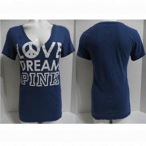Victoria's Secret PINK top Medium Love Dream blue